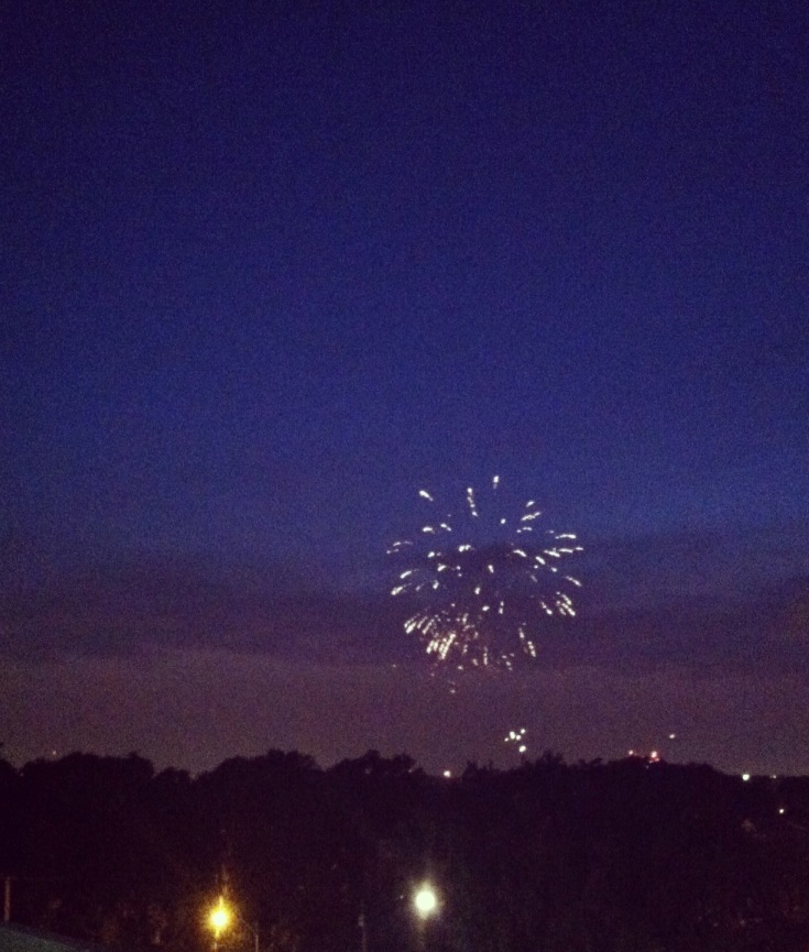 Fireworks on Fourth of July